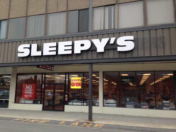 The original Sleepy's next to TJ Maxx