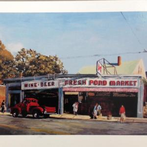 Fresh Pond Market (painting by Valerie Isaacs)