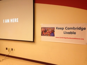 """Keep Cambridge Livable"" was the summit's theme."