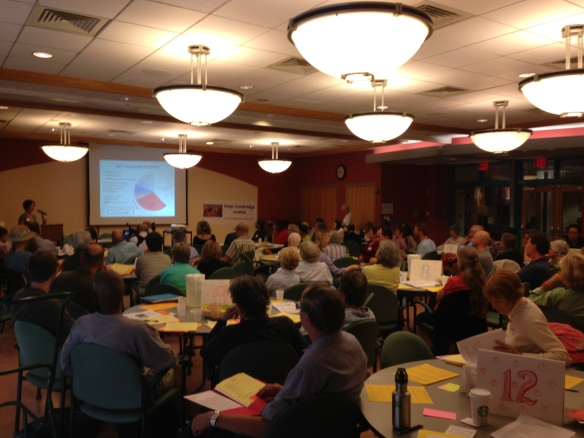 The summit audience filled the Cambridge Senior Center's meeting room.