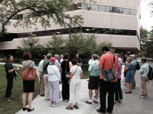 Walking tour of Alewife with Cambridge planning board (8/12/14)