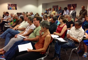 Large crowd at last week's Ordinance Committee hearing on the Carlone Amendment