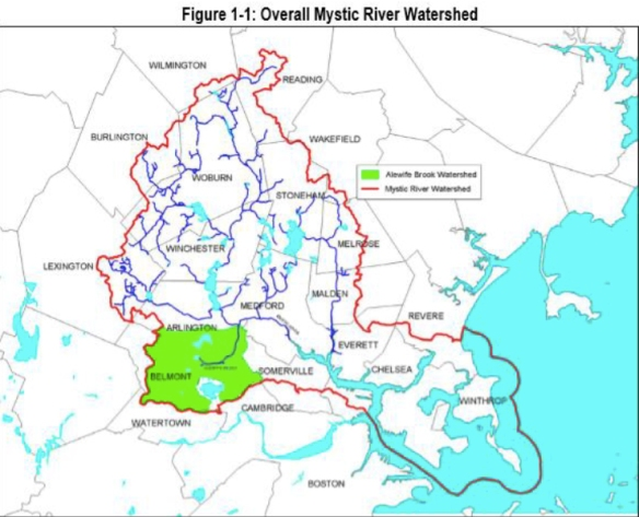 Mystic River floodplain