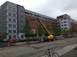Luxury apartments under construction near Alewife last year