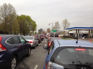 Congestion on Fresh Pond Parkway