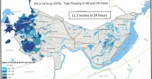 100-year storm projected flooding in 2070
