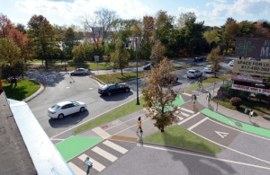Proposed design for crossings at New St and Concord Ave