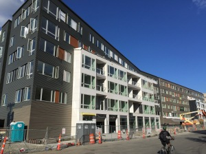 Nearing completion on Cambridgepark Dr: The Fuse apartments (244 units)